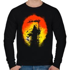 PRINTFASHION Látogatás - Férfi pulóver - Fekete