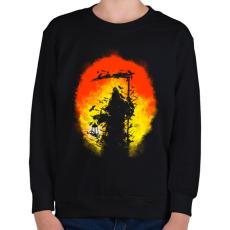 PRINTFASHION Látogatás - Gyerek pulóver - Fekete