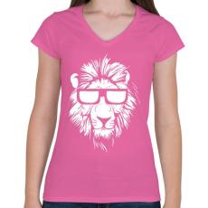 PRINTFASHION Lazaság - Női V-nyakú póló - Rózsaszín