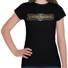 PRINTFASHION League of Legends - Női póló - Fekete
