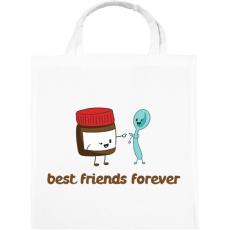 PRINTFASHION Legjobb Barátok Örökké - Vászontáska - Fehér