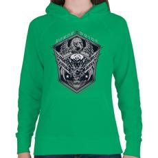 PRINTFASHION Legjobb motor - Női kapucnis pulóver - Zöld