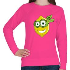 PRINTFASHION Lemon Hero - Női pulóver - Fukszia