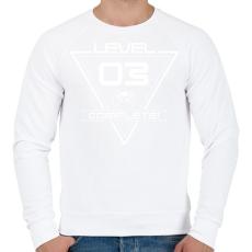 PRINTFASHION level-complete-03-white - Férfi pulóver - Fehér