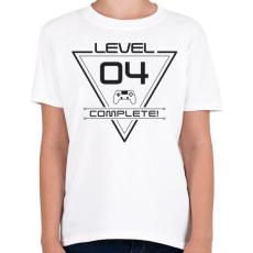 PRINTFASHION level-complete-04-gray - Gyerek póló - Fehér
