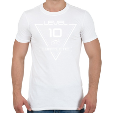 PRINTFASHION level-complete-10-white - Férfi póló - Fehér