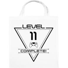 PRINTFASHION level-complete-11-black - Vászontáska - Fehér