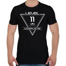 PRINTFASHION level-complete-11-white - Férfi póló - Fekete