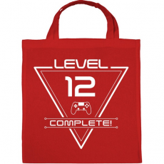 PRINTFASHION level-complete-12-white - Vászontáska - Piros