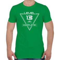 PRINTFASHION level-complete-13-white - Férfi póló - Zöld