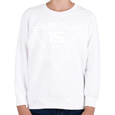 PRINTFASHION level-complete-15-white - Gyerek pulóver - Fehér