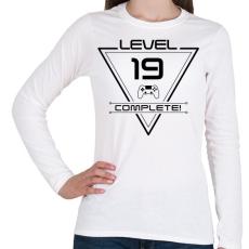 PRINTFASHION level-complete-19-black - Női hosszú ujjú póló - Fehér