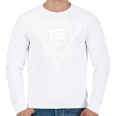 PRINTFASHION level-complete-19-white - Férfi pulóver - Fehér