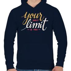 PRINTFASHION Limit - Férfi kapucnis pulóver - Sötétkék