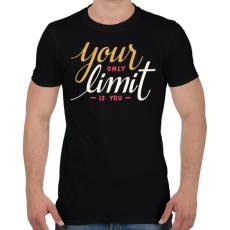 PRINTFASHION Limit - Férfi póló - Fekete