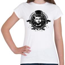 PRINTFASHION Lincoln - Vámpírvadász - Női póló - Fehér