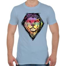 PRINTFASHION Liony - Férfi póló - Világoskék