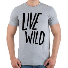 PRINTFASHION Live Wild - Férfi póló - Sport szürke