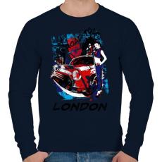PRINTFASHION London utjain - Férfi pulóver - Sötétkék