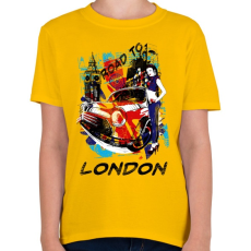 PRINTFASHION London utjain - Gyerek póló - Sárga