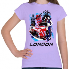 PRINTFASHION London utjain - Női póló - Viola