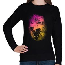 PRINTFASHION Lopakodó veszély - Női pulóver - Fekete