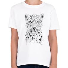 PRINTFASHION Lovely leopard - Gyerek póló - Fehér