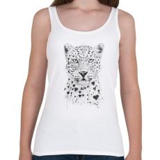 PRINTFASHION Lovely leopard - Női atléta - Fehér