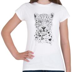 PRINTFASHION Lovely leopard - Női póló - Fehér