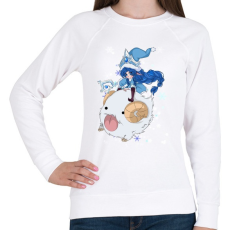 PRINTFASHION Lulu - Női pulóver - Fehér