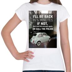 PRINTFASHION Macska az autóban - Női póló - Fehér