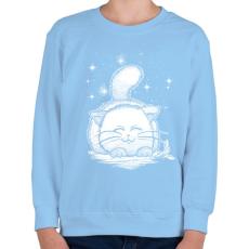 PRINTFASHION Macskaálom - Gyerek pulóver - Világoskék
