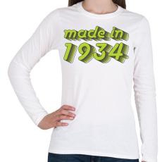 PRINTFASHION made-in-1934-green-grey - Női hosszú ujjú póló - Fehér