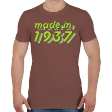 PRINTFASHION made-in-1937-green-grey - Férfi póló - Mogyoróbarna