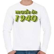 PRINTFASHION made-in-1940-green-grey - Férfi pulóver - Fehér