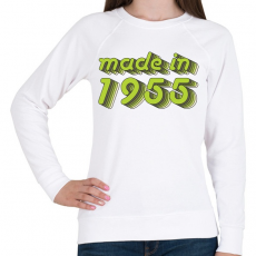PRINTFASHION made-in-1955-green-grey - Női pulóver - Fehér