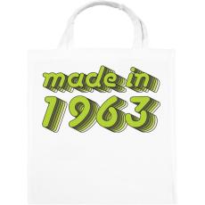 PRINTFASHION made-in-1963-green-grey - Vászontáska - Fehér