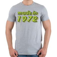 PRINTFASHION made-in-1972-green-grey - Férfi póló - Sport szürke
