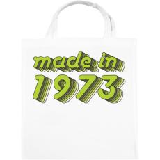 PRINTFASHION made-in-1973-green-grey - Vászontáska - Fehér