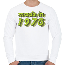 PRINTFASHION made-in-1975-green-grey - Férfi pulóver - Fehér