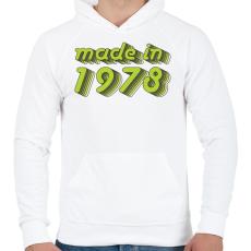 PRINTFASHION made-in-1978-green-grey - Férfi kapucnis pulóver - Fehér