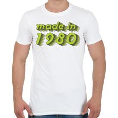 PRINTFASHION made-in-1980-green-grey - Férfi póló - Fehér