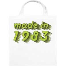 PRINTFASHION made-in-1983-green-grey - Vászontáska - Fehér