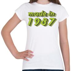 PRINTFASHION made-in-1987-green-grey - Női póló - Fehér