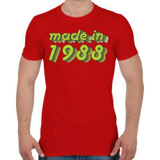 PRINTFASHION made-in-1988-green-grey - Férfi póló - Piros