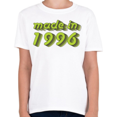 PRINTFASHION made-in-1996-green-grey - Gyerek póló - Fehér