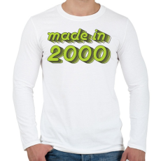 PRINTFASHION made-in-2000-green-grey - Férfi hosszú ujjú póló - Fehér