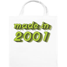 PRINTFASHION made-in-2001-green-grey - Vászontáska - Fehér