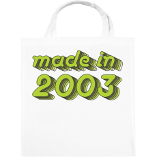PRINTFASHION made-in-2003-green-grey - Vászontáska - Fehér