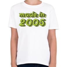PRINTFASHION made-in-2005-green-grey - Gyerek póló - Fehér